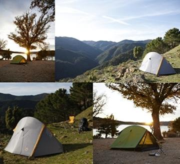 Grand Canyon Cardova 1 - leichtes Zelt, 1 - 2 Personen, für Trekking, Camping, Outdoor, Festival mit kleinem Packmaß, einfacher Aufbau, Wasserdicht, olive/schwarz, 302009 - 3