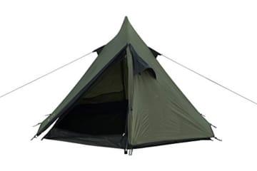 Grand Canyon Cardova 1 - leichtes Zelt, 1 - 2 Personen, für Trekking, Camping, Outdoor, Festival mit kleinem Packmaß, einfacher Aufbau, Wasserdicht, olive/schwarz, 302009 - 4