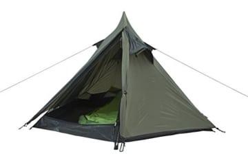 Grand Canyon Cardova 1 - leichtes Zelt, 1 - 2 Personen, für Trekking, Camping, Outdoor, Festival mit kleinem Packmaß, einfacher Aufbau, Wasserdicht, olive/schwarz, 302009 - 5
