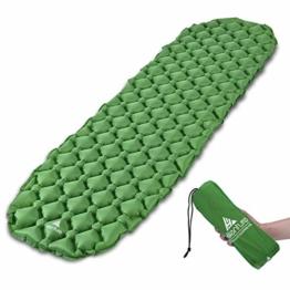 Hikenture Adult hiken02 Kleines Packmaß Ultraleichte Aufblasbare Isomatte-Sleeping Pad für Camping, Reise, Outdoor, Wandern, Strand (Grün), Kissen, 1 - 1