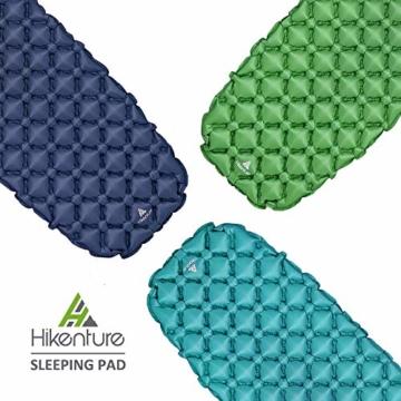 Hikenture Adult hiken02 Kleines Packmaß Ultraleichte Aufblasbare Isomatte-Sleeping Pad für Camping, Reise, Outdoor, Wandern, Strand (Grün), Kissen, 1 - 7