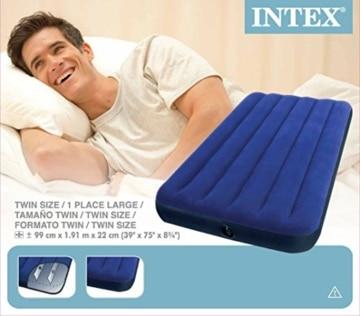 Intex Classic Downy Luftbett - Twin - 99 x 191 x 22 cm - Blau - 7
