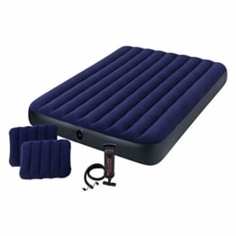 Intex Classic Downy Set Luftbett - Queen - 152 x 203 x 22 cm - 4-teilig - Blau - 1