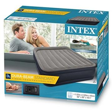 Intex Deluxe Pillow Rest Raised Luftbett - Queen - 152 x 203 x 42 cm - Mit eingebaute elektrische Pumpe - 3