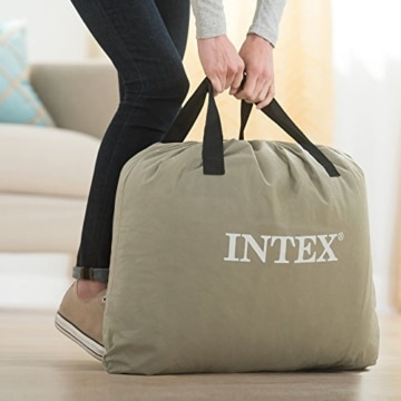 Intex Pillow Rest Raised Luftbett - Queen - 152 x 203 x 42 cm - Mit eingebaute elektrische Pumpe - 4
