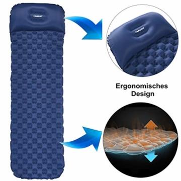 Tarent Isomatte/Aufblasbare Luftmatte Ultraleicht Kleines Packmaß, Camping Matratze und Isomatten, Schlafmatte für Outdoor, Reise, Strand - 4